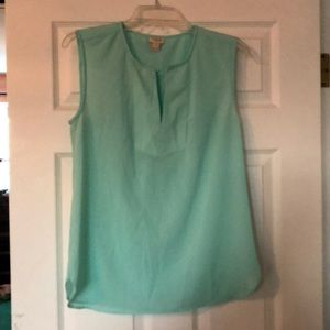 Aqua J Crew Sleeveless Blouse